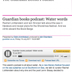 Guardian books podcast: Water words