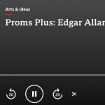 A rare radio appearance last night, talking about Poe in the interval of the BBC proms. Available as podcast: